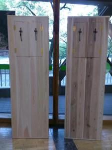 京北産 スギとヒノキの棺